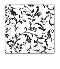 Everyday Napkin Designs - Arabesque Black Three-ply Napkins 33x33 cm - 80903