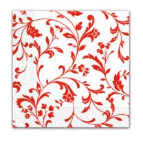 Everyday Napkin Designs - Arabesque Red Three-ply Napkins 33x33 cm - 80904