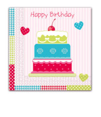 Three-ply Napkins 33 X 33 Cm / Everyday Designs - Just Happy Birthday Three-ply Napkins 33x33 cm - 80905