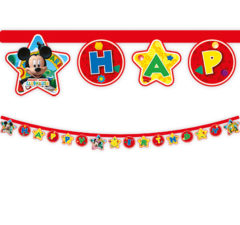 "Playful Mickey - ""Happy Birthday"" Die-cut Banner - 81514"