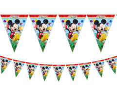 Playful Mickey - Triangle Flag Banner (9 Flags) - 81515