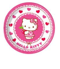 Hello Kitty Hearts - Paper Plates Medium 20cm - 81792
