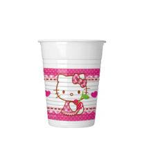 Hello Kitty Hearts - Plastic Cups 200 ml - 81793