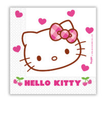 Hello Kitty Hearts - Two-ply Paper Napkins 33x33 cm - 81794