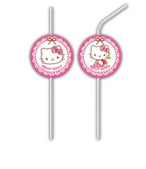 Hello Kitty Hearts - Medallion Flexi Drinking Straws - 81798