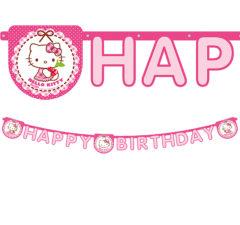 """Hello Kitty Hearts - """"Happy Birthday"""" Die-Cut Banner - 81799"""