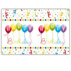 Happy Birthday Streamers - Plastic Tablecover 120x180cm - 81845