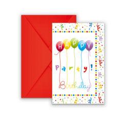 Happy Birthday Streamers - Invitations & Envelopes - 81847