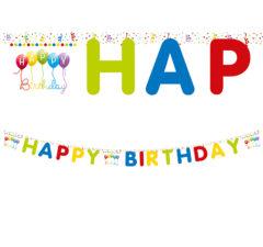 "Happy Birthday Streamers - ""Happy Birthday"" Die-cut Banner - 81849"