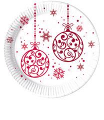 Xmas Red Balls - Paper Plates Large 23cm - 81937
