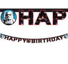 """Star Wars Final Battle - """"happy Birthday"""" Die-cut Banner - 84169"""