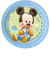 Baby Mickey - Paper Plates Large 23cm - 84344
