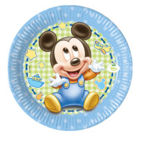 Baby Mickey - Paper Plate Medium 20cm - 84345