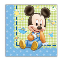 Baby Mickey - Two-ply Paper Napkins 33x33 cm - 84347