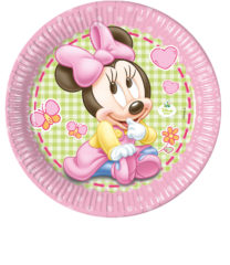 Baby Minnie - Paper Plates Large 23cm - 84349
