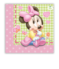 Baby Minnie - Two-ply Paper Napkins 33x33 cm - 84352