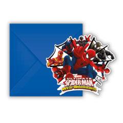 Ultimate Spider-Man Web Warriors - Die-cut Invitations & Envelopes - 85157
