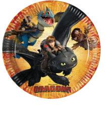 Dragons - Paper Plates Large 23cm - 85885