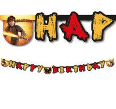 "Dragons - ""Happy Birthday"" Die-cut Banner - 85893"