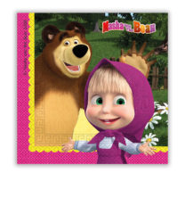 Masha And The Bear - Two-ply Paper Napkins 33x33 cm - 86514