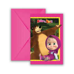 Masha And The Bear - Invitations & Envelopes - 86562