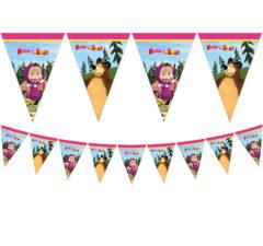 Masha And The Bear - Triangle Flag Banner (9 Flags) - 86563