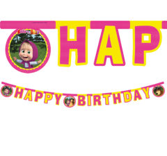 "Masha And The Bear - ""happy Birthday"" Die-cut Banner - 86564"