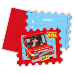 Postman Pat - Die-cut Invitations & Envelopes - 86716