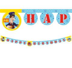 """Postman Pat - """"Happy Birthday"""" Die-cut Banner - 86717"""