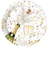 Sparkling Celebration - Paper Plates Large 23cm Metallic - 86848