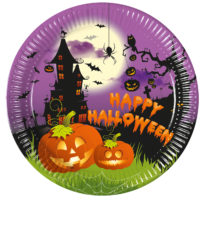 Happy Spooky Halloween - Paper Plates Large 23cm - 86854