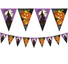 Happy Spooky Halloween - Triangle Flag Banner (9 Flags) - 86861