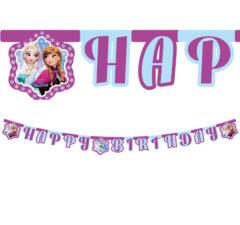"""Frozen Northern Lights - """"Happy Birthday"""" Die-Cut Banner - 86920"""