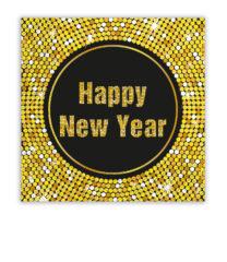 Happy New Year Retro - Three-ply Paper Napkins 33x33cm - 86931