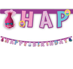 "Trolls - ""Happy Birthday"" Die-cut Banner - 87021"