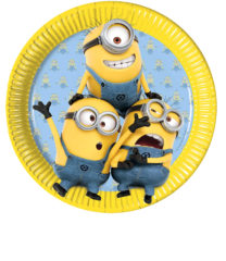 Lovely Minions - Paper Plates Large 23cm - 87176