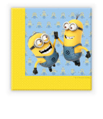 Lovely Minions - Two-ply Paper Napkins 33x33 cm - 87178