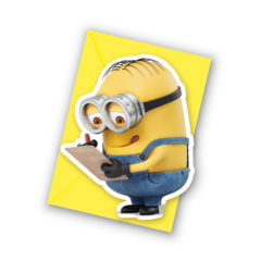 Lovely Minions - Die-cut Invitations & Envelopes - 87181