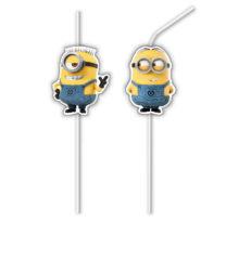 Lovely Minions - Medallion Flexi Drinking Straws - 87188