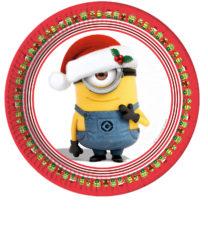 Minions Christmas - Paper Plates Large 23cm - 87203