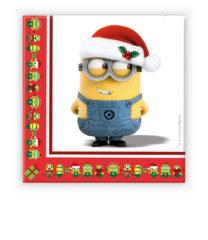 Minions Christmas - Two-ply Paper Napkins 33x33 cm - 87205