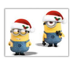 Minions Christmas - Plastic Tablecover 120x180cm - 87206