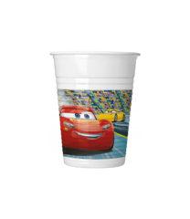 Cars 3 - Plastic Cups 200 ml - 87798