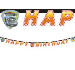 "Cars 3 - ""happy Birthday"" Die-cut Banner - 87804"
