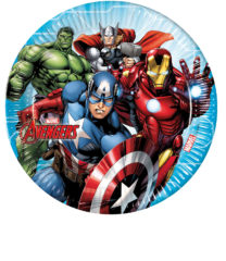 Mighty Avengers - Paper Plates Large 23 cm - 87962
