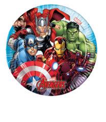 Mighty Avengers - Paper Plates Medium 20 cm - 87963