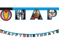 "Mighty Avengers - ""Happy Birthday"" Die-cut Banner - 87972"