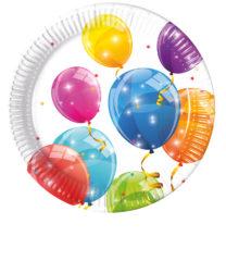 Sparkling Balloons - Paper Plates 23 cm - 88147