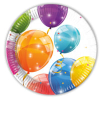 Sparkling Balloons - Paper Plates 20 cm - 88148