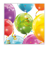 Sparkling Balloons - Two-ply Paper Napkins 33x33 cm - 88150